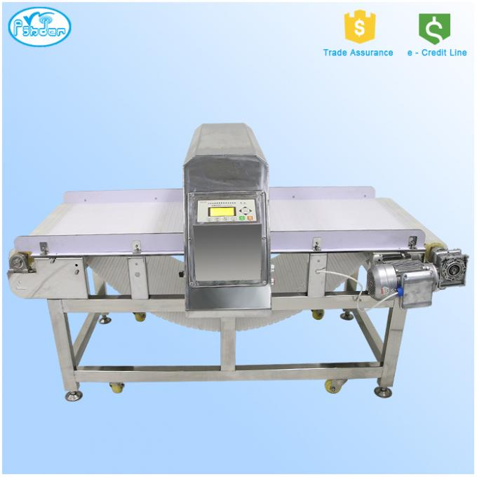 Plate Chain Metal Detector Conveyor Systems With Integrated Belt Conveyor