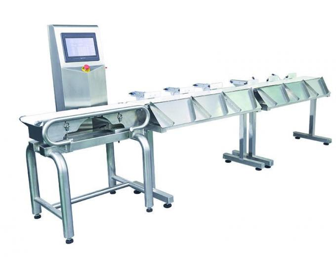 Waterproof Combo Online Checkweigher And Metal Detector Machine Stable , ± 0.1g Accuracy