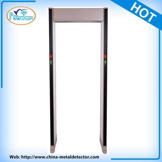 Waterpoof Column Shape Walk Through Metal Detector For Airport With 18 Zones