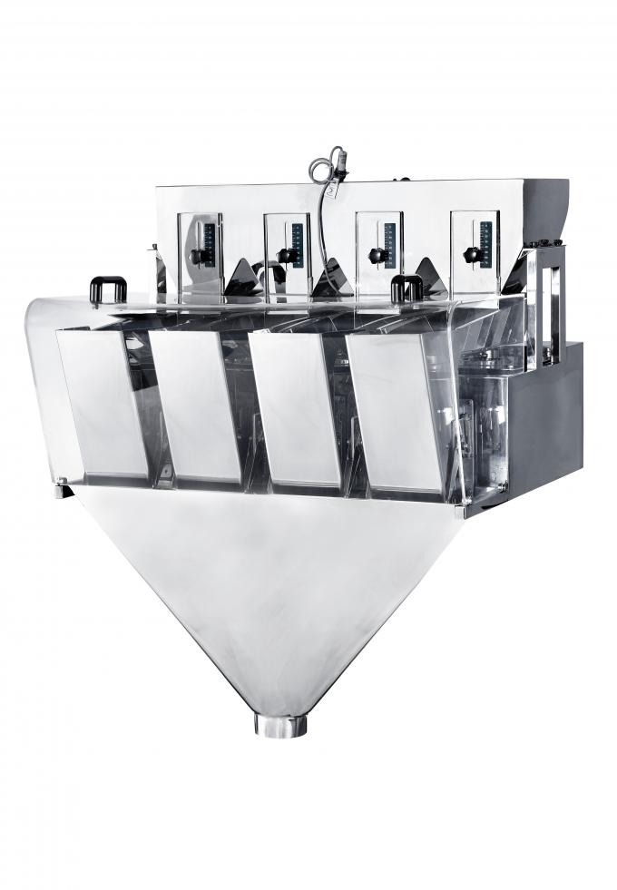 automatic food Linear Weigher High precision stainless steel for weighing slice ,roll or regular shape product
