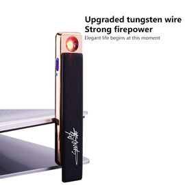 China Anti Protection USB Rechargeable Lighter , Custom Dual Arc Usb Lighter supplier