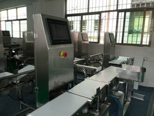 China Food Package Weight Machine To Check Weight With Auto Rejection System supplier