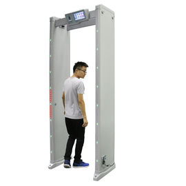 China Portable Walk Through Metal Detector Security Gate 20W With Sound / Light Alarm supplier