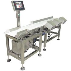 China Color LCD Touch Screen Check Weigher Tower Light And Buzzer Alarm With Data Printer supplier