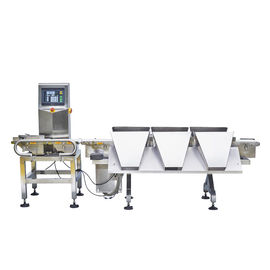 China Multi Sorting Conveyor Weight Checker , High Accuracy Online Food Weighing Machine supplier