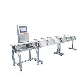 China Automatic Sweep Arm Weight Sorting Machine Chicken Duck Food Weight Grader supplier