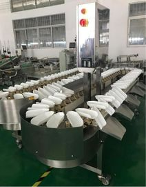 China Sea Food Industrial 8 Grade Weight Sorting Conveyor Online Check Weigher 220 V supplier