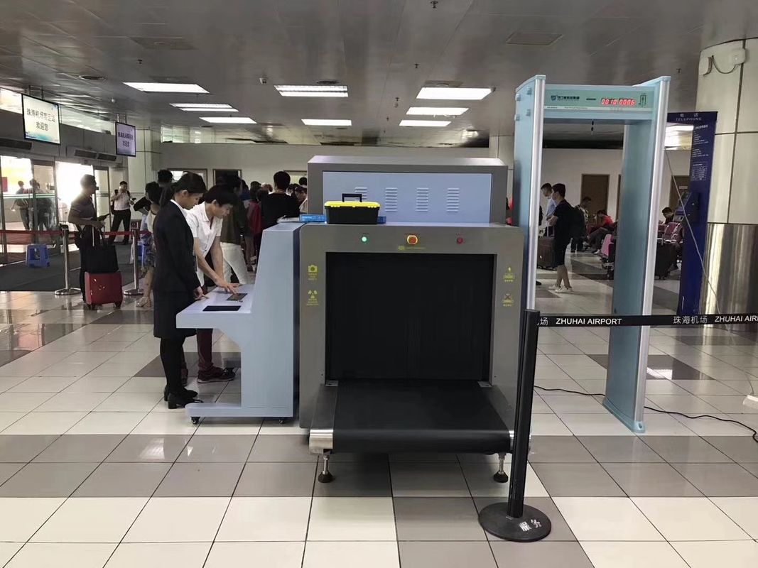 Conveyor Belt Security X Ray Luggage Scanner / Screening Machine For
