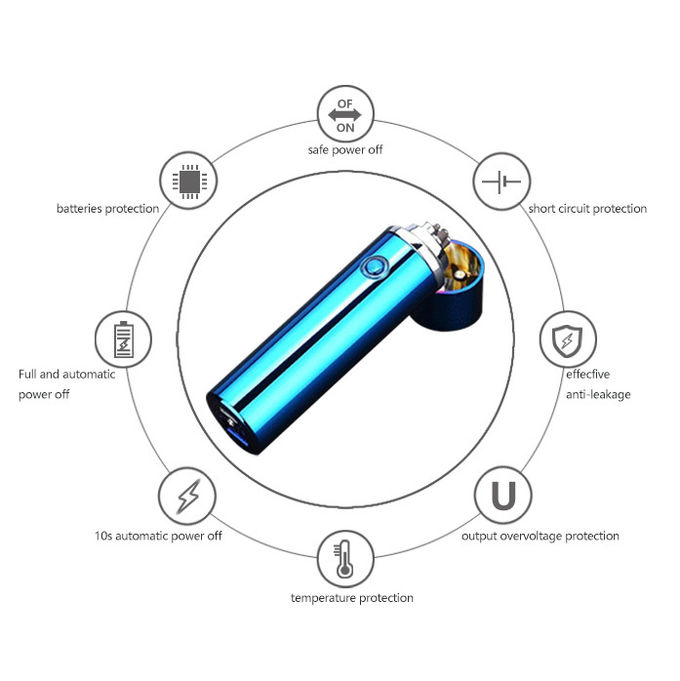 Waterproof Plasma ARC Lighter , Rechargeable Electronic Plasma Cigarette Lighter